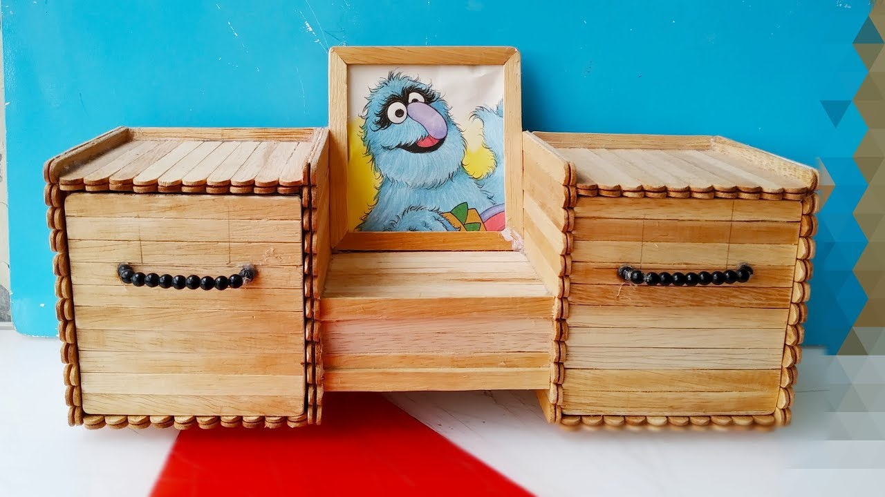 How to make a jewelry Box / diy / Popsicle sticks Crafts ...