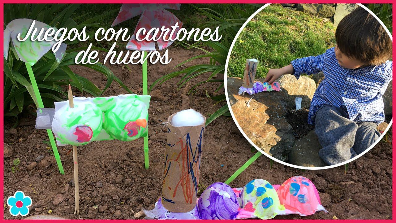 Juegos Con Materiales Reciclados Carton De Huevos Arte Y