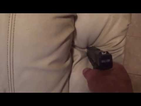 Contact Shot with a Glock
