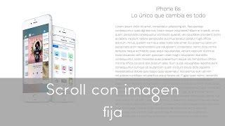 tutorial html css | scroll con imagen fija