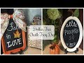 DOLLAR TREE DIY | Fall Pumpkin Chalk Tray
