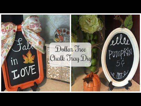 DOLLAR TREE DIY | Fall Pumpkin Chalk Tray