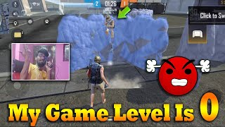 😡My Game Level Is 0 😡|Free Fire Adam &Without Gun Skin 1 VS 1 Best Gameplay | Tricks Tips Tamil