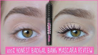 100% HONEST Benefit BADgal BANG! Mascara Review! | EvieEllen
