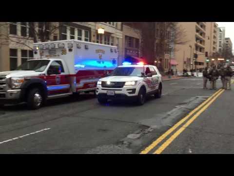 2 WASHINGTON DC METRO POLICE INTERCEPTORS RESPONDING DURING INAUGURATION FOR PRESIDENT-ELECT TRUMP.
