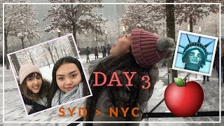 NEW YORK CITY TRAVEL VLOG // PART 3 // Seeing Snow + 9/11 Memorial