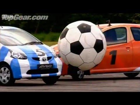 Toyota Aygo car football - Top Gear - BBC