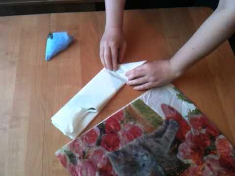 Как сложить пакет треугольником видео