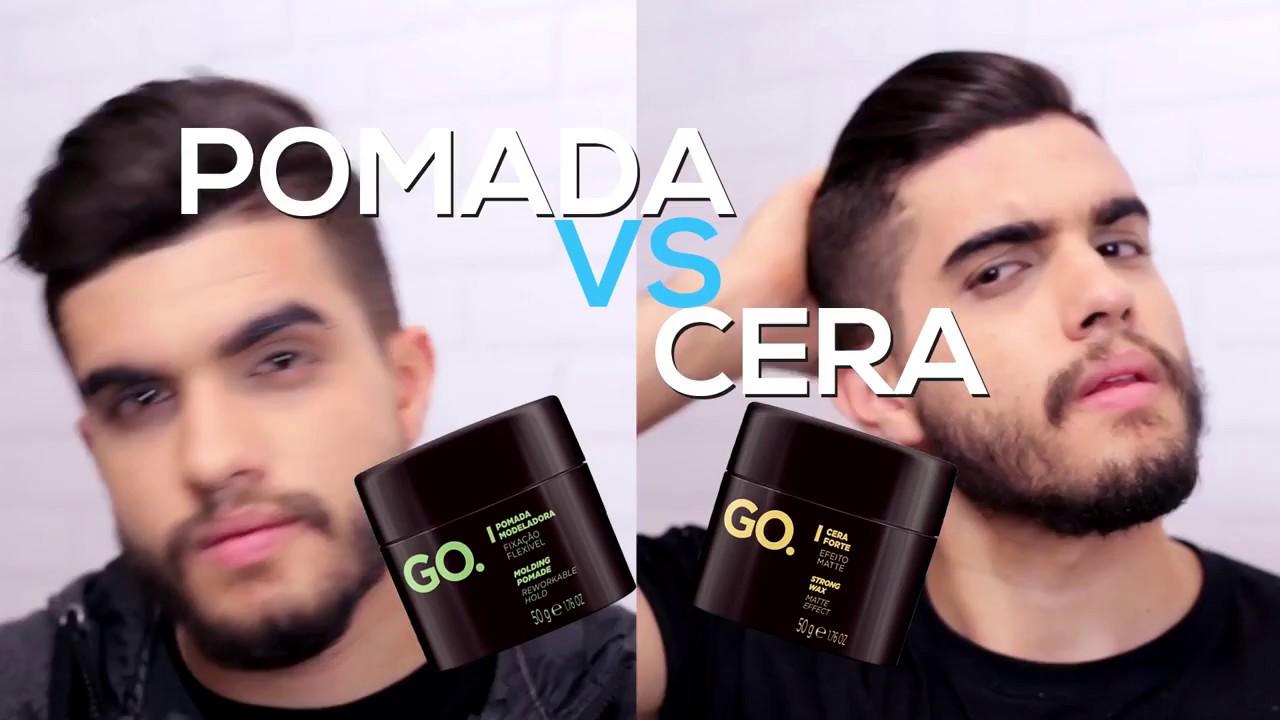 Pomada ou Cera - Penteado Masculino com Andrew Pedroso - GO