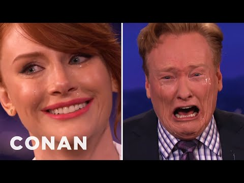 Bryce Dallas Howard Teaches Conan How To Cry On Command  - CONAN on TBS