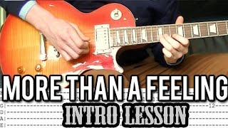 Boston - More Than A Feeling - Intro Guitar Lesson (With Tabs)