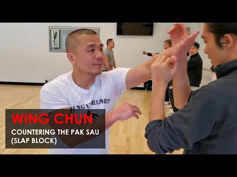 Countering The Pak Sau (Slap Block) -  Wing Chun, Kung Fu Report - Adam Chan