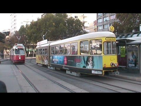 Bratislava-Wien in treno OS/REX; con stazioni, tram, metrò