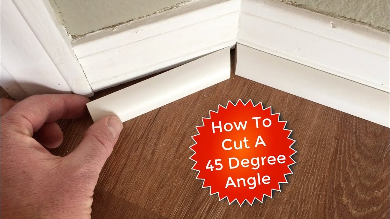 How To Cut Quarter Rounds For A 45 Degree Angle Youtube