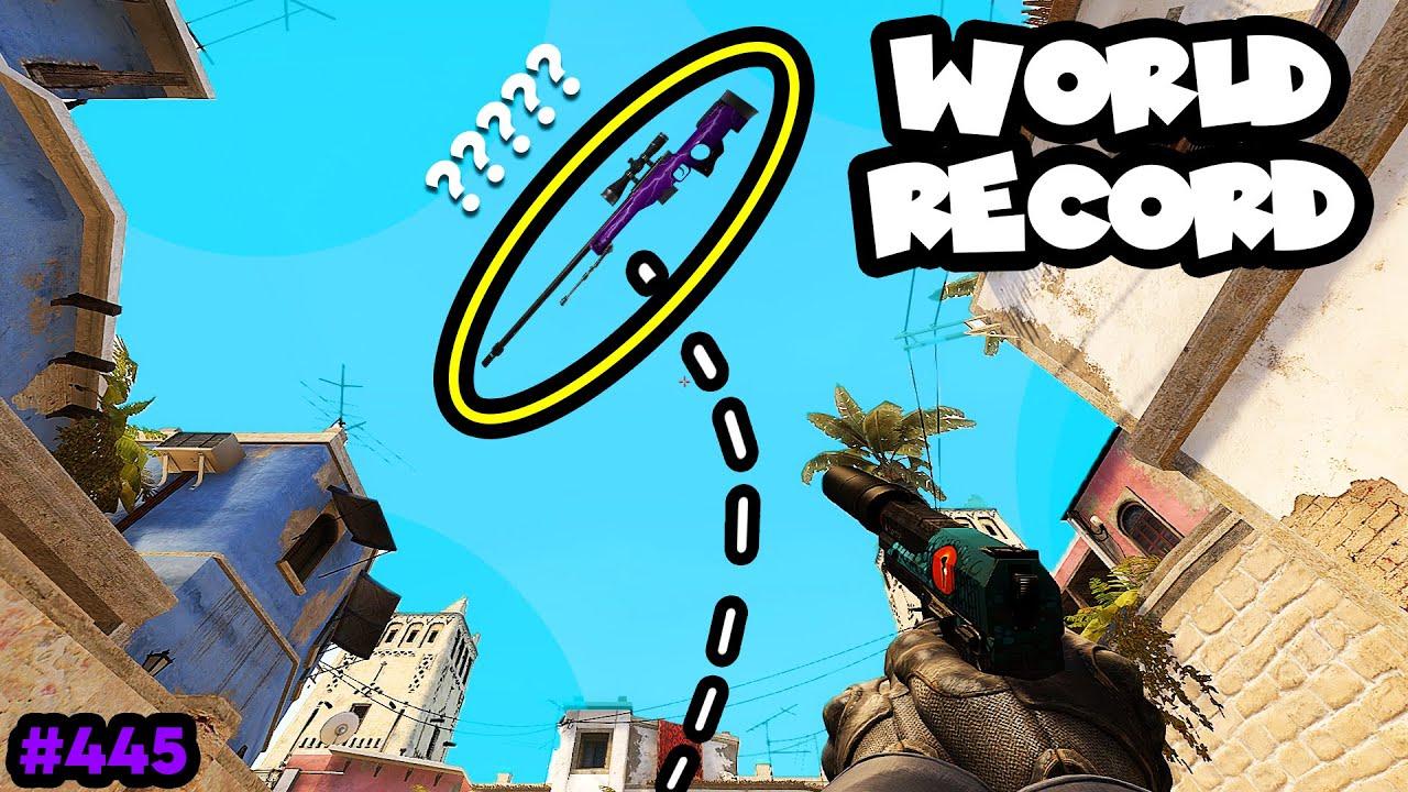 WORLD RECORD in 300 IQ AWP DROP! - CS:GO BEST ODDSHOTS #445