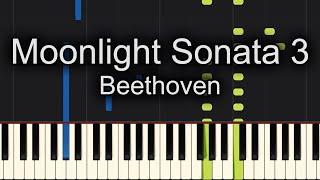 Beethoven  - Moonlight Sonata 3rd Movement Piano Cover - Sheet Music Available!!