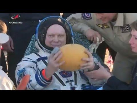 Из космоса за дынями: как участники экспедиции МКС-55/56 возвращались на Землю