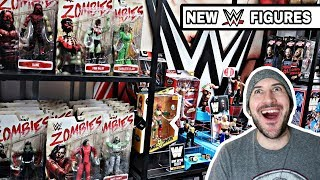 WWE Figure Warehouse Tour Featuring New Mattel figures - Zombies Series 3!!!