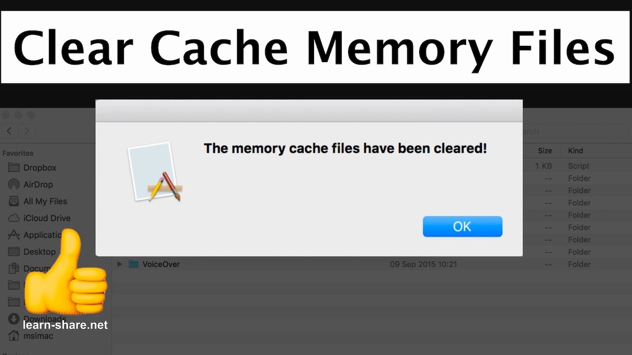How to Clear Cache on Mac OS - Clean Memory Cache in 1-Click