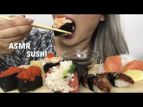 ASMR SUSHI [ Eating Sound ] - N.E Lets Eat