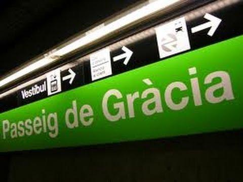 Barcelona Metro - Catalunya station to Passeig de Gracia