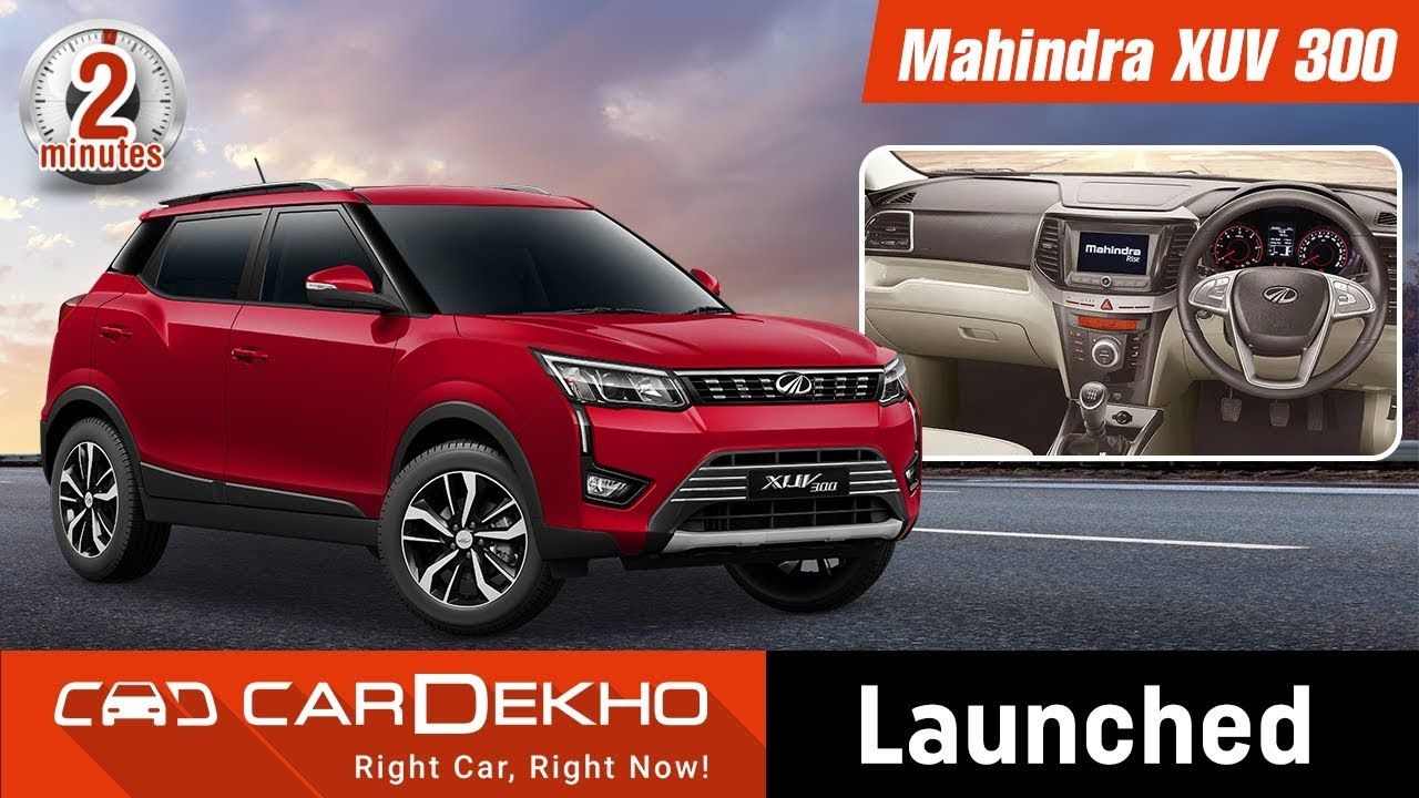 Mahindra Xuv300 Launched Price Starts At Rs 7 9 Lakh In2mins