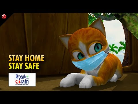 Break the chain ☆Stay home Stay safe ☆Covid 19 message for kids - YouTube