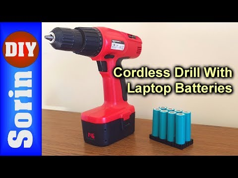Cordless Drill Conversion - With Laptop Batteries??