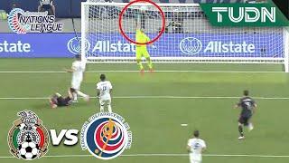 ¡TRAVESAÑO! ¡Qué remate del 'Chucky'!   México 0-0 Costa Rica   Nations League Semifinal   TUDN