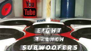 EIGHT Subwoofers DESTROY car!! #IJWB EXTREME BASS!!