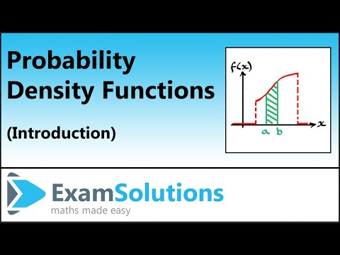 Probability Density Functions (Introduction) : ExamSolutions