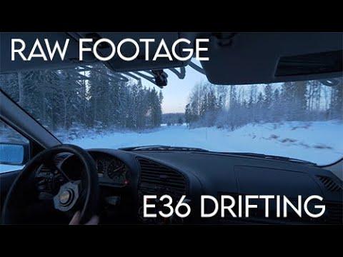 l LASTNIGHTFUN l E36 325i WINTER DRIFTING INTO THE SUNSET 4K RAW