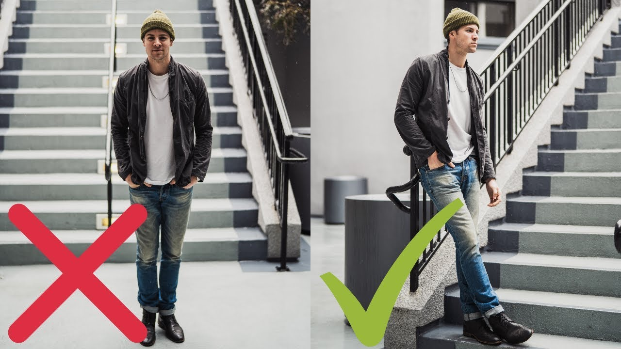 5 Posing Tips For Men How To Take Better Pictures Even If You Re Not A Male Model Youtube