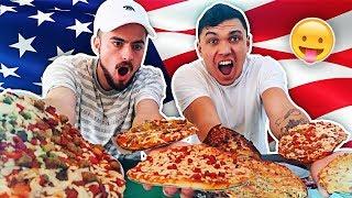 AMERICAN PIZZA TASTE TEST CHALLENGE