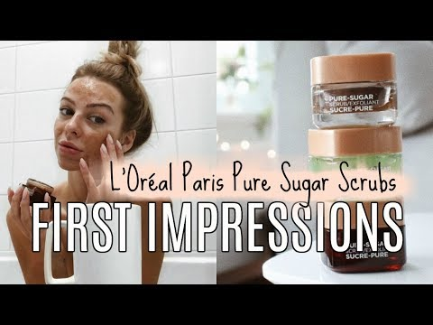 First Impressions Review | L'Oréal Paris Pure-Sugar Scrubs