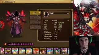 SUMMONERS WAR : Arnold the Fire Death Knight - Spotlight / Review / Ham