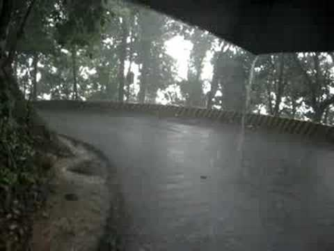 Walking through the Ghat road in heavy monsoon rain!