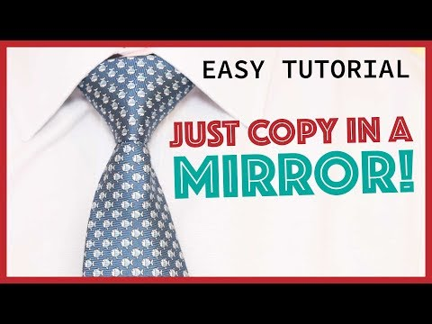 How to Tie-a-Tie - Full Windsor (slowly mirrored) - Easy!