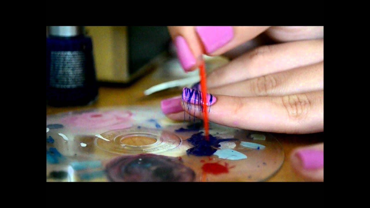Spun Sugar Nail Art Tutorial Youtube
