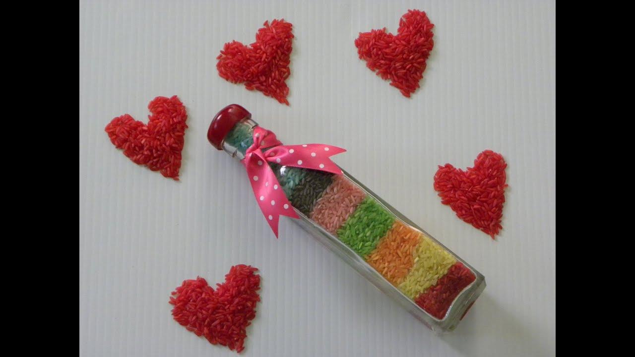 Como Decorar Una Botella De Vidrio Con Dulces
