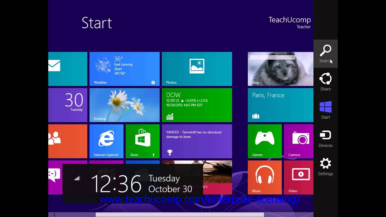 Windows 8 tutorial.