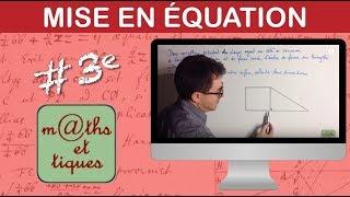 vuclip Mettre un problème en équation (2) - Troisième
