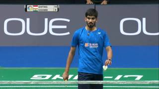 Download Video OUE Singapore Open 2017   Badminton SF M5-MS   Anthony Sinisuka Ginting vs Kidambi Srikanth MP3 3GP MP4