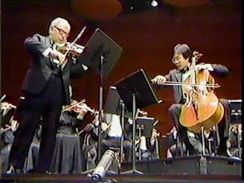 Mozart Sinfonia Concertante K. 364 (Mvt. I) Isaac Stern, violin Yo Yo Ma, cello