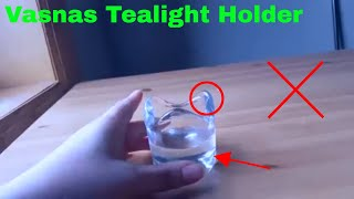 ✅  How To Use Vasnas Tealight Holder Review