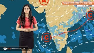 [Hindi] 4 अक्टूबर के लिए मौसम पूर्वानुमान: बिहार, झारखंड, छत्तीसगढ़ में बारिश, दिल्ली में शुष्क मौसम