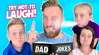 Try NOT to LAUGH Challenge! (Dad Jokes Edition) K-City Family