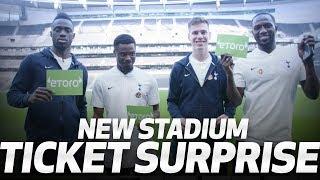 NEW STADIUM TICKET SURPRISE | Ft Moussa Sissoko, Davinson Sanchez, Serge Aurier & Juan Foyth