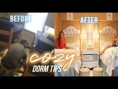 COZY DORM TIPS ✰ how to feel at-home in a dorm room
