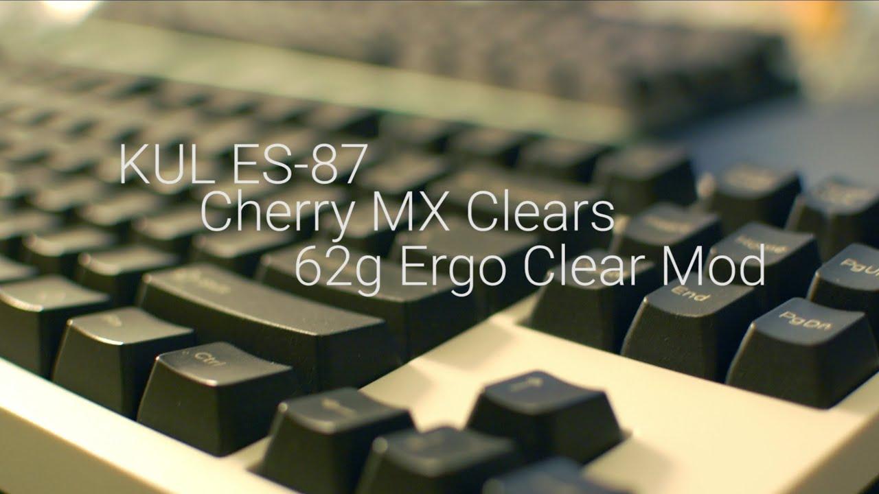 Ergo Clear Mechanical Keyboard Modification